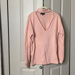 Long Missguided sweater with keyhole neck